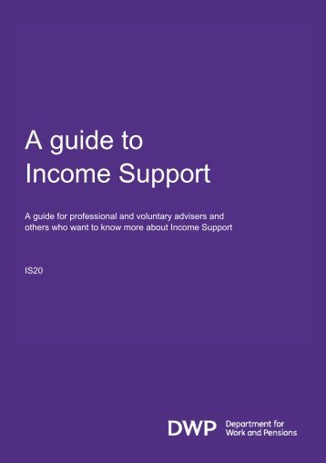 A guide to Income Support (IS20 - Oct 2010)