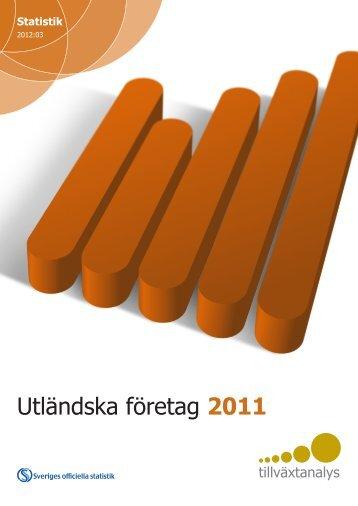 Utländska företag 2011 - Tillväxtanalys