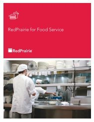 RedPrairie for Food Service - Hospitality Technology