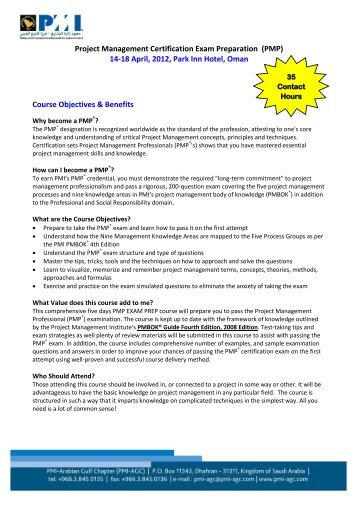 Project Management Certification Exam Preparation (PMP) 14-18 ...