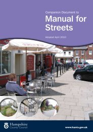 Manual for Streets - Hampshire County Council