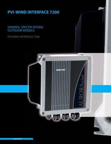 PVI-WIND INTERFACE 7200 - Power-One