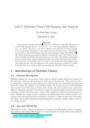 Lab 5: Globular Cluster M2 Imaging and Analysis - UGAstro