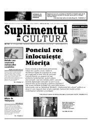 Descarca PDF - Suplimentul de Cultura