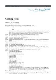Coming Home - Wan Smolbag Theatre
