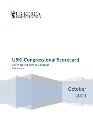 USKI Congressional Scorecard 2009 - US-Korea Institute at SAIS