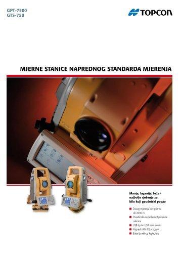 mjerne stanice naprednog standarda mjerenja - Topcon Positioning