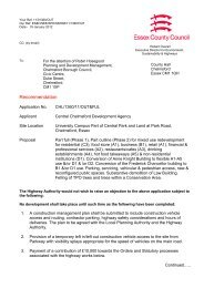 Green sheet letter - Chelmsford Borough Council