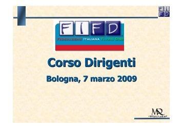 Corso Dirigenti - CONI Emilia Romagna