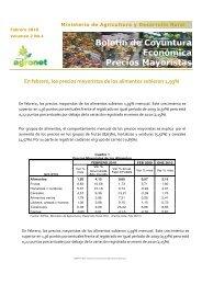 boletín de precios mayoristas - Agronet