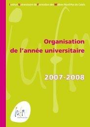Organisation de l'année universitaire - IUFM