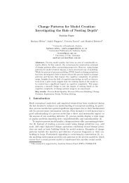 Change Patterns for Model Creation: Investigating the Role of ...