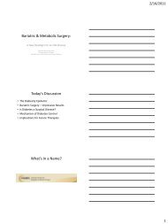 Bariatric & Metabolic Surgery: - American Diabetes Association