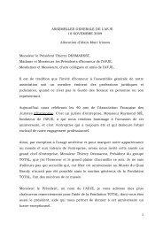 ASSEMBLLEE GENERALE DE L'AFJE