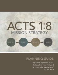 Acts 1:8 Mission Strategy A planning guide to help your church ...