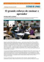 O grande esforço de ensinar e aprender - Instituto Fernand Braudel ...