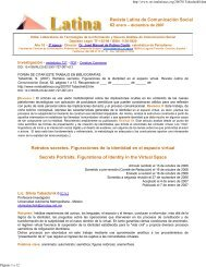 Retratos secreto - Revista Latina de Comunicación Social