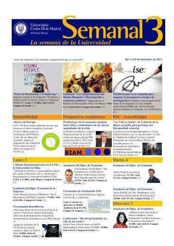 SEMANAL 3 La semana de la Universidad Carlos III de Madrid