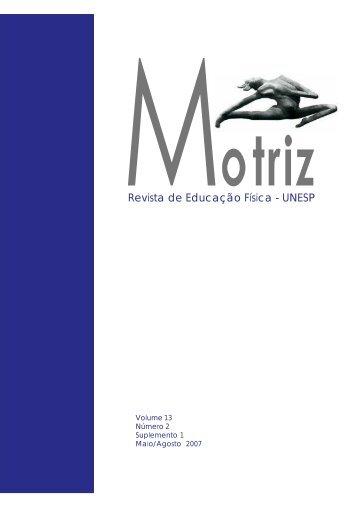Revista de Educação Física - UNESP - Pós-Graduação em ...