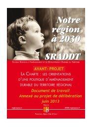 Avant-projet de Charte - SRADDT - Région Provence-Alpes-Côte d ...