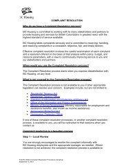 Complaints Resolution Process - BC Housing