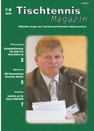 des Deutschen Tischtennis- Bundes mit Ausführungs ... - TTVN