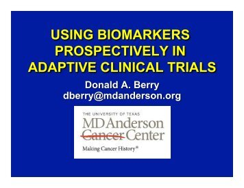 using biomarkers prospectively in adaptive clinical trials