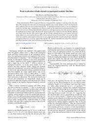 Weak localization of bulk channels in topological insulator thin films