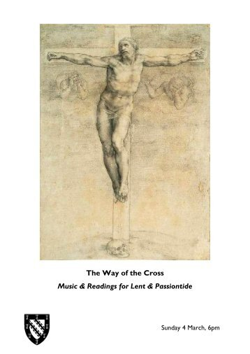 The Way of the Cross Music & Readings for Lent & Passiontide
