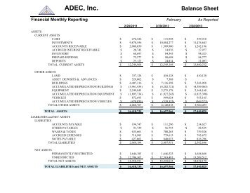ADEC, Inc. Balance Sheet
