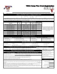 2013 Camper Registration Form - YMCA of Greater Toronto