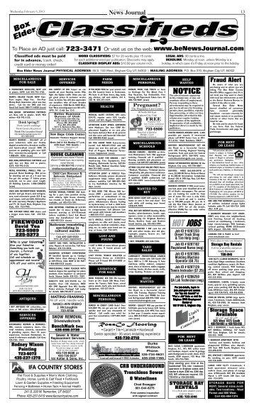 NOTICE - Box Elder News Journal