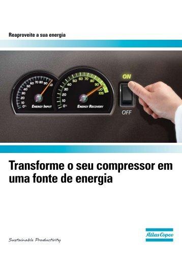 Transforme o seu compressor em uma fonte de energia - Atlas Copco