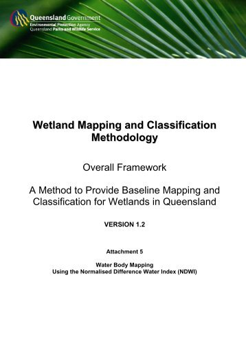 Wetland Mapping and Classification Methodology - WetlandInfo