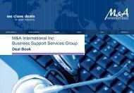 M&A International Inc. Business Support Services Deal Book (29 ...