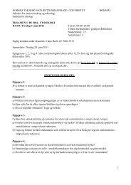 1 NORGES TEKNISK-NATURVITENSKAPELIGE ... - Institutt for biologi