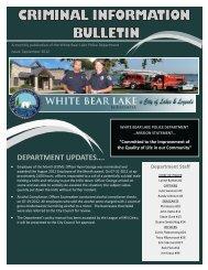 September 2012 - City of White Bear Lake