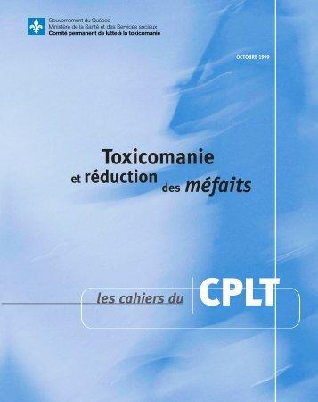 Toxicomanie et réduction des méfaits