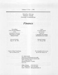 Volume 17', No. 1, 1996 Edited by * Édité par