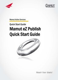 Mamut eZ Publish Quick Start Guide