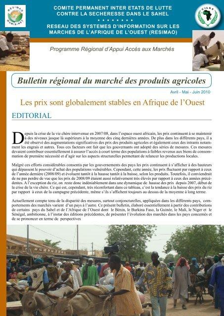 Bulletin cilss resimao Avril - Mai - Juin 2010