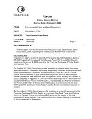 Proposed Power Plant - Staff Report (December 7, 2009) - Oakville