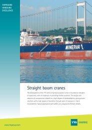 Straight boom cranes MARINE - TTS Group ASA