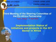 Implementation status of initiatives and projects in the ICT sector in ...