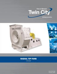 Radial Tip Fans - Catalog 980 - Twin City Fan & Blower