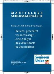 eine Analyse des Schulsports in Deutschland - Senioren-Union NRW