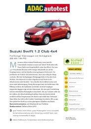 Suzuki Swift 1.2 Club 4x4 - ADAC