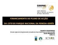 financiamento do plano de acção da cets do parque nacional da ...