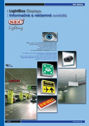 : LightBox Displays : Informačné a reklamné svietidlá