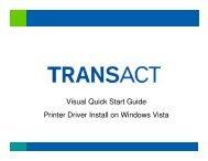 Printer Driver Install on Windows Vista - BlueStar